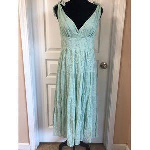 Seafoam/ Sage Eyelet Boho Style Dress